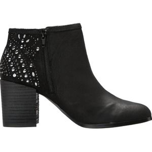 Fergie Leather Bless Bootie Ankle Boots Black 8.5